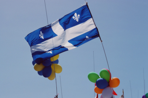 Fleur De Lys「Flag and balloons for St. Jean Baptiste Day in Canada」:スマホ壁紙(9)
