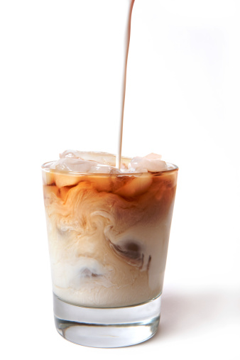 Cappuccino「Iced Coffee with cream being poured in」:スマホ壁紙(13)