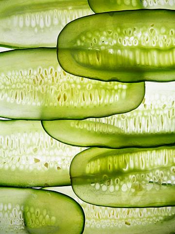 Freshness「Cucumber slices in line」:スマホ壁紙(17)
