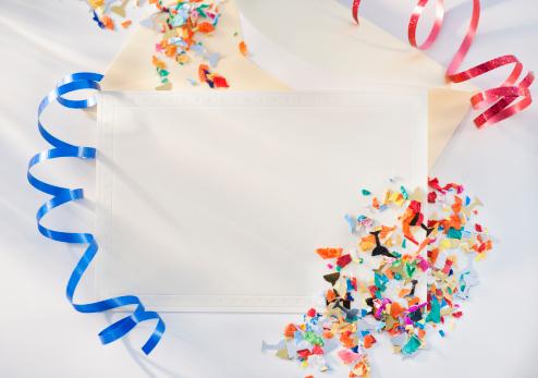 お正月「Confetti and ribbons」:スマホ壁紙(7)