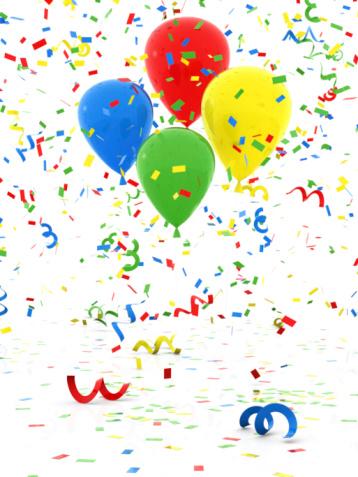 Clip Art「Confetti and Balloon」:スマホ壁紙(5)