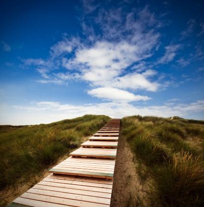 Walking「Way through the dunes with a huge sky」:スマホ壁紙(7)