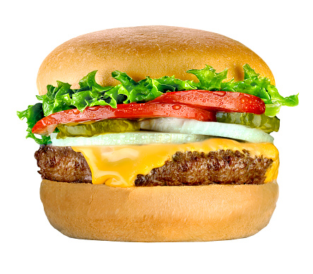 Hamburger「chees burger on white」:スマホ壁紙(16)