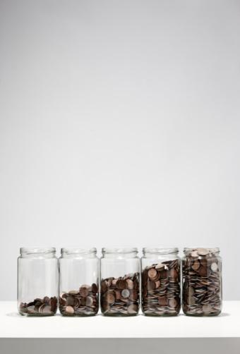 Savings「jars of coins showing growth」:スマホ壁紙(2)