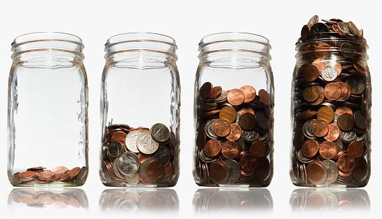 米国硬貨「Jars of coins」:スマホ壁紙(6)