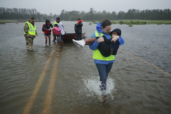 Hurricane - Storm「Hurricane Florence Slams Into Coast Of Carolinas」:写真・画像(9)[壁紙.com]