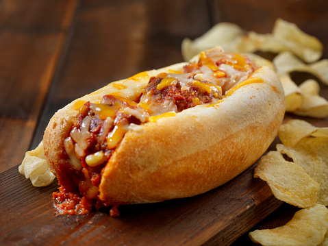 Cheddar Cheese「Baked Meatball Sub Sandwich with Kettle Chips」:スマホ壁紙(9)