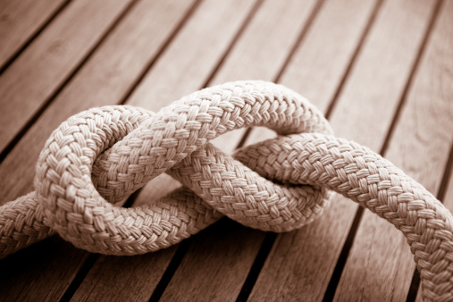 Sepia Toned「Eight knot on a sail boat deck」:スマホ壁紙(0)