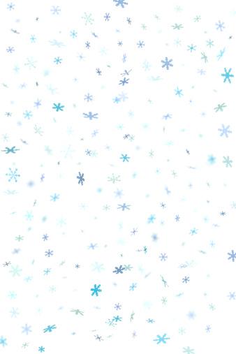 雪の結晶「ブルーのスノーフレークコンフェティ背景 2」:スマホ壁紙(8)
