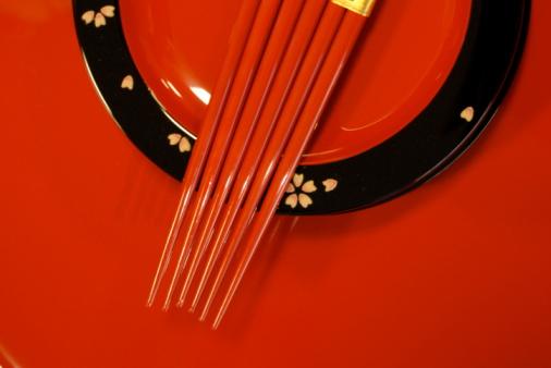 和柄「レッド箸」:スマホ壁紙(7)