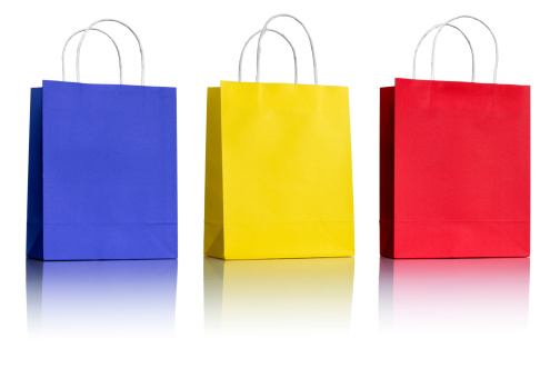 Paper Bag「Three Paper Shopping Bags on white」:スマホ壁紙(4)