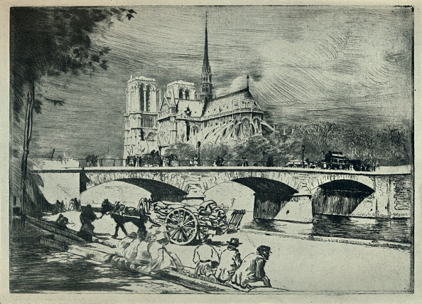 Water's Edge「'The Apse of Notre Dame', 1915」:写真・画像(7)[壁紙.com]