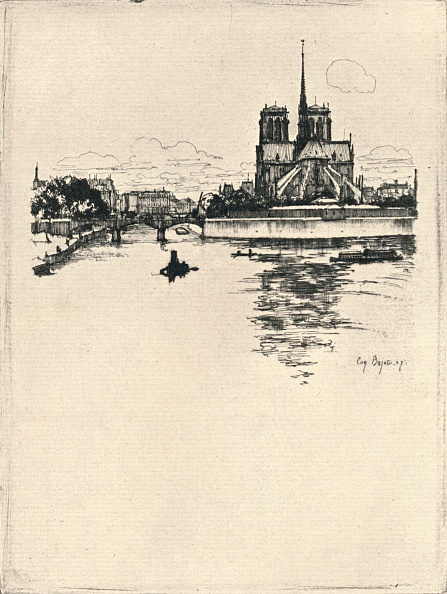 Architectural Feature「'The Apse of Notre Dame', 1915」:写真・画像(19)[壁紙.com]