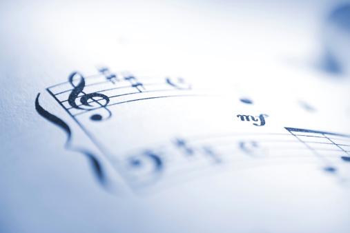 Defocused「Sheet music notes macro」:スマホ壁紙(3)
