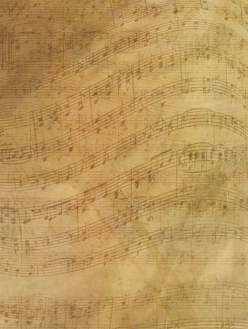 Sepia Toned「Sheet Music Abstract Background」:スマホ壁紙(6)