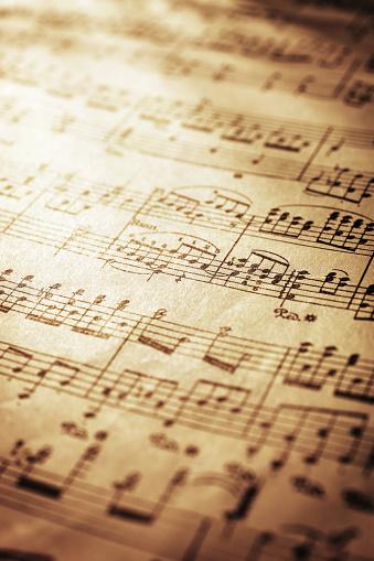 Sepia Toned「Sheet Music」:スマホ壁紙(0)