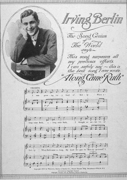Sheet Music「'Along Came Ruth' By Irving Berlin」:写真・画像(9)[壁紙.com]