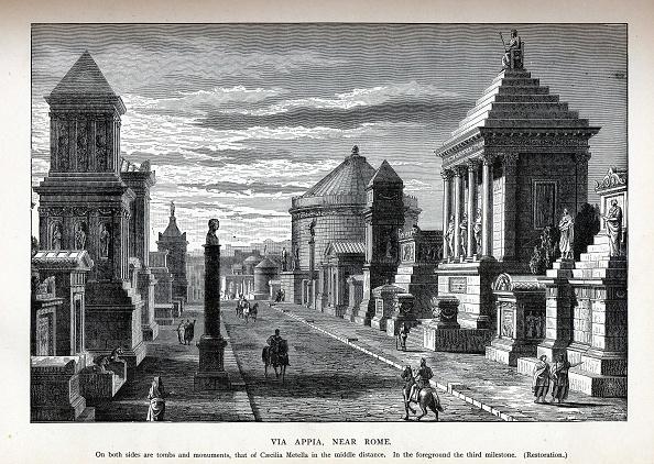 Appian Way「Via Appia Near Rome (Reconstruction), 1882」:写真・画像(4)[壁紙.com]