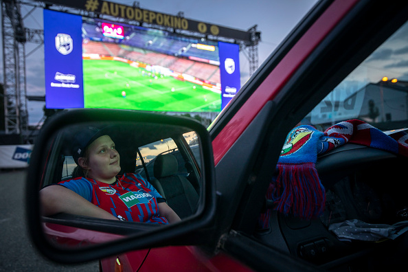 American Football - Sport「Drive-In Cinema Shows AC Sparta Prague Vs. FC Viktoria Plzen As Top-Flight Football Resumes」:写真・画像(13)[壁紙.com]