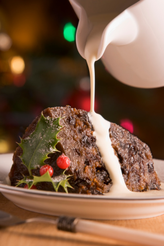 Atlantic Islands「Portion of Christmas Pudding with Pouring Cream」:スマホ壁紙(12)