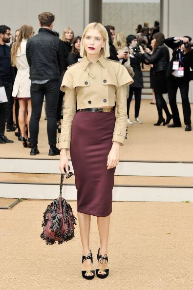 Three Quarter Length Sleeve「Burberry Prorsum - Arrivals: London Fashion Week SS14」:写真・画像(2)[壁紙.com]