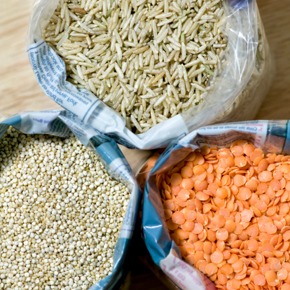 Basmati Rice「Open bags of basmati rice, red lentils and quinoa」:スマホ壁紙(16)