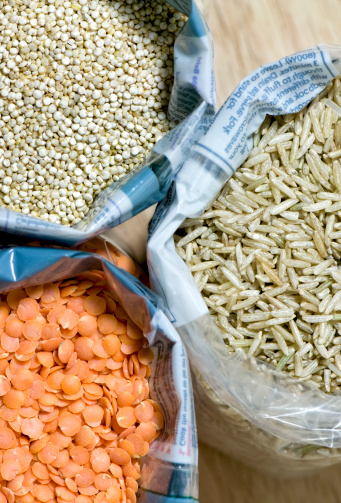 Basmati Rice「Open bags of basmati rice, red lentils and quinoa」:スマホ壁紙(3)