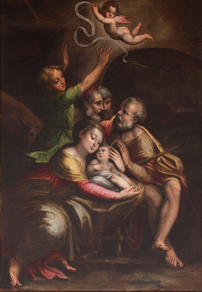 Painted Image「The Adoration Of The Christ Child」:写真・画像(7)[壁紙.com]