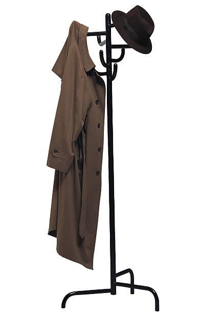 Coat rack with coat and hat:スマホ壁紙(壁紙.com)