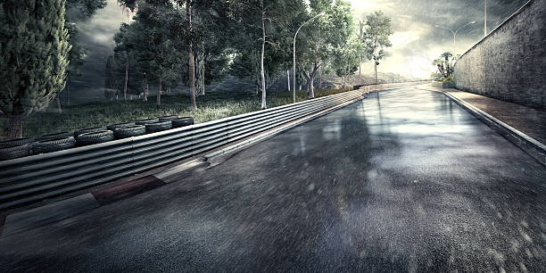 Mountain Highway Track at night:スマホ壁紙(壁紙.com)