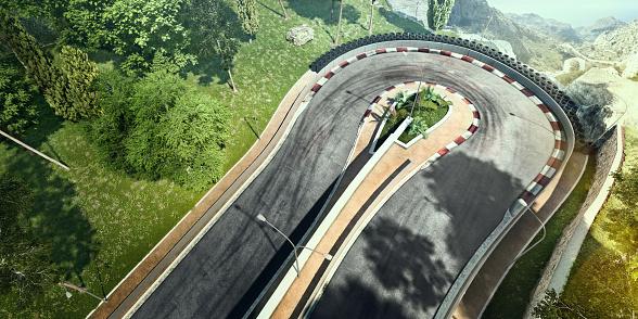 Motor Racing Track「Mountain Highway Track」:スマホ壁紙(8)