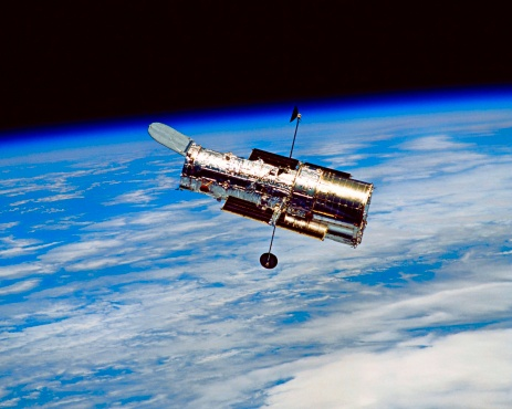 Hubble Space Telescope「Hubble space telescope in orbit」:スマホ壁紙(19)