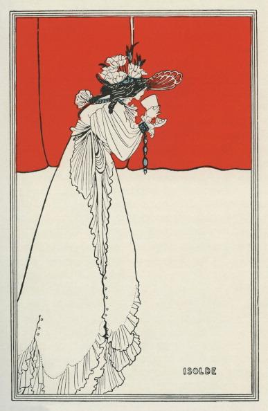 アールヌーボー「Isolde by Aubrey Beardsley」:写真・画像(4)[壁紙.com]