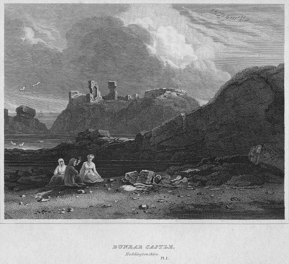 East Lothian「Dunbar Castle, Haddingtonshire, 1814」:写真・画像(16)[壁紙.com]