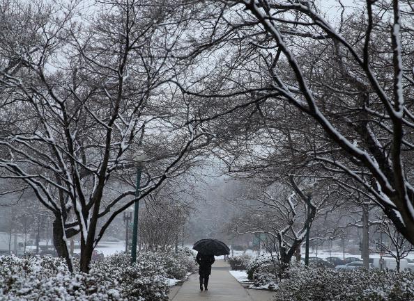 Umbrella「Spring Snowstorm Brings Winter Weather Back To Northeast」:写真・画像(0)[壁紙.com]
