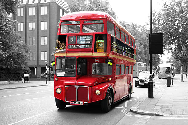 Red Double-Decker Bus - London:スマホ壁紙(壁紙.com)