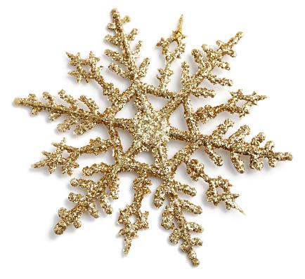 雪「ゴールドのグリッターの結晶デザイン」:スマホ壁紙(16)