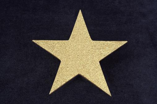 Glitter「Gold Glitter Star On Dark Blue Velvet Bacground」:スマホ壁紙(6)