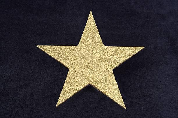 Gold Glitter Star On Dark Blue Velvet Bacground:スマホ壁紙(壁紙.com)