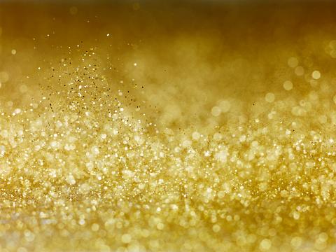 Gold「Gold Glitter bokkeh」:スマホ壁紙(2)