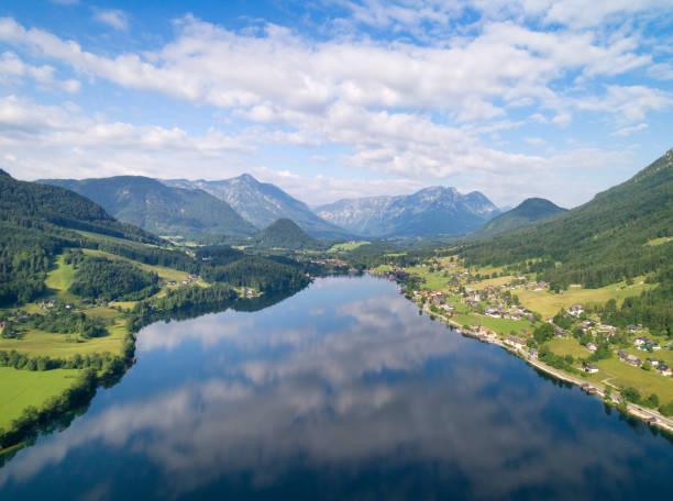 Grundlsee, Austria - Aerial View:スマホ壁紙(壁紙.com)