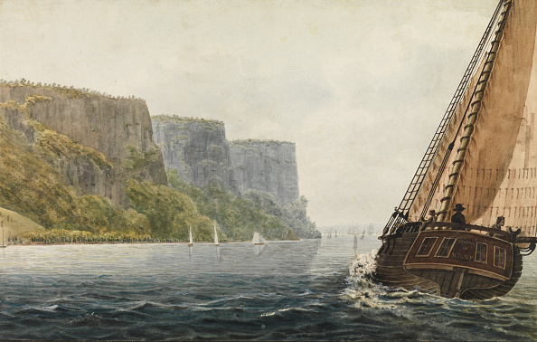 """1810-1819「The Packet """"Mohawk Of Albany"""" Passing The Palisades」:写真・画像(7)[壁紙.com]"""