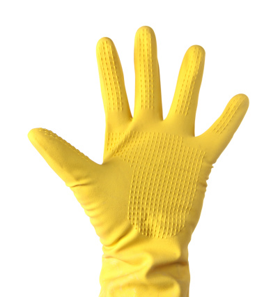 Protective Glove「Yellow Cleaning glove on white」:スマホ壁紙(17)