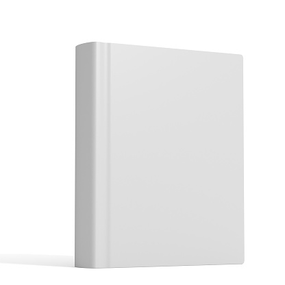Standing「White book with no title standing on white background」:スマホ壁紙(7)