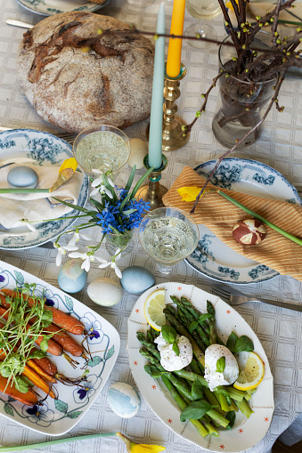 Poached Food「Easter brunch table shot from above」:スマホ壁紙(11)