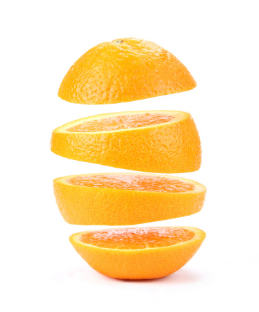 Orange - Fruit「suspended orange」:スマホ壁紙(1)