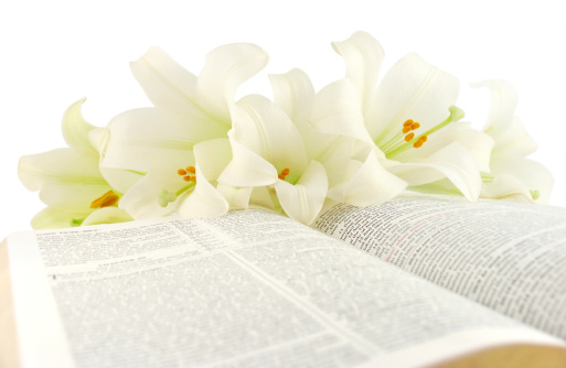 Easter「Bible with Easter Lilies (KJV)」:スマホ壁紙(16)