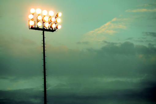 Floodlight「Sports stadium lights at dusk, night.」:スマホ壁紙(14)