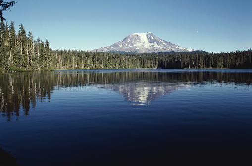 アダムス山「Mt. Adams from Takhlakh Lake」:スマホ壁紙(13)