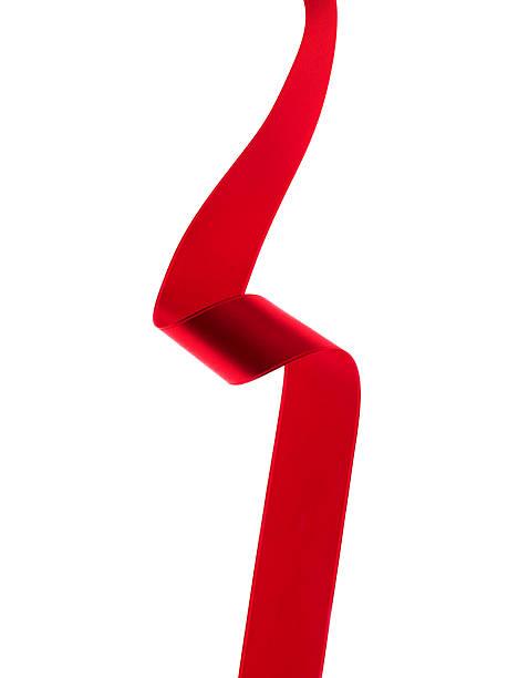 Red Ribbon Flowing on A White Background.:スマホ壁紙(壁紙.com)
